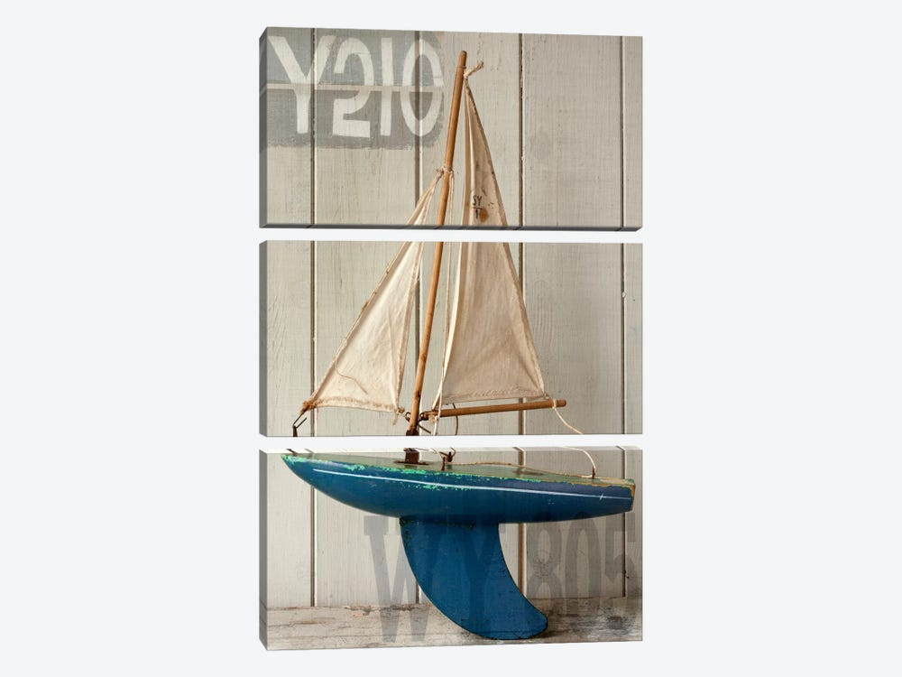 Sailboat I by Symposium Design 3-piece Canvas Print