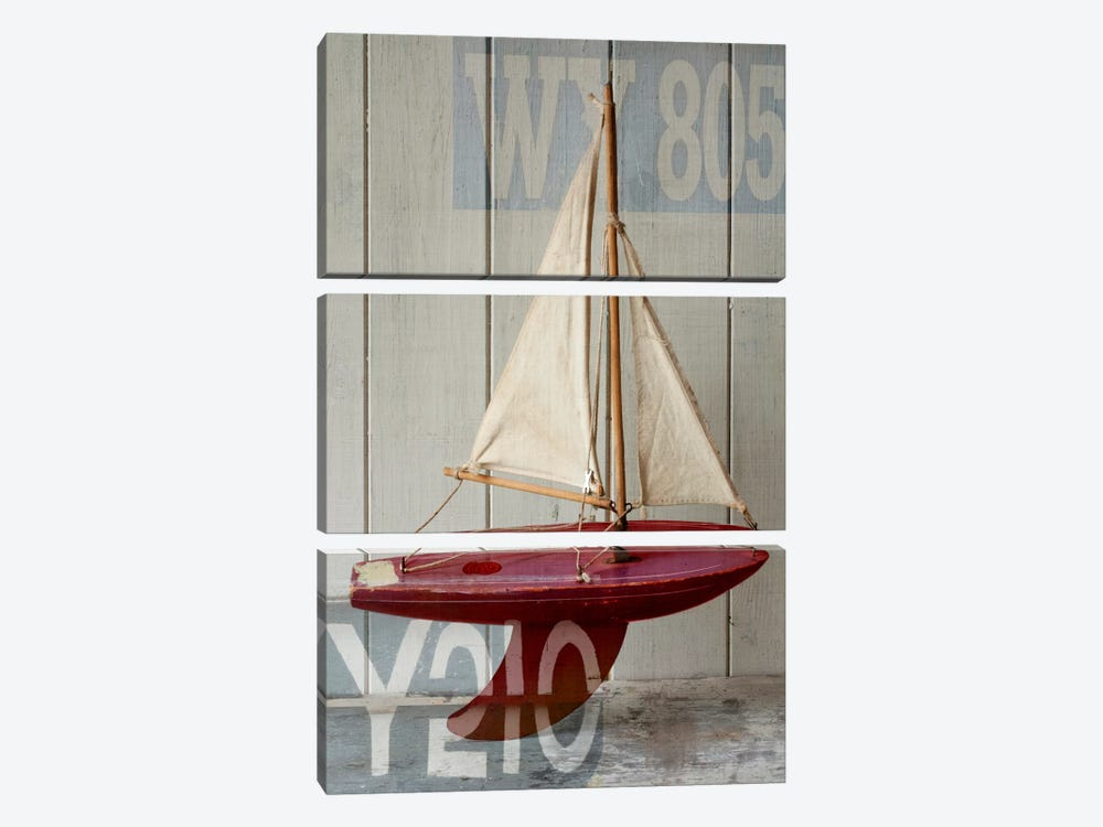 Sailboat II 3-piece Canvas Artwork