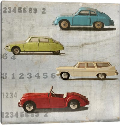 Vintage Photo Car Canvas Art Print