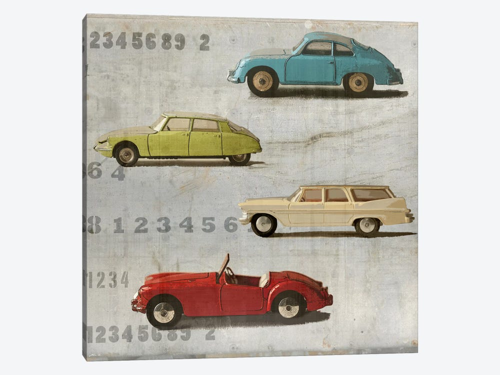 Vintage Photo Car 1-piece Canvas Art Print