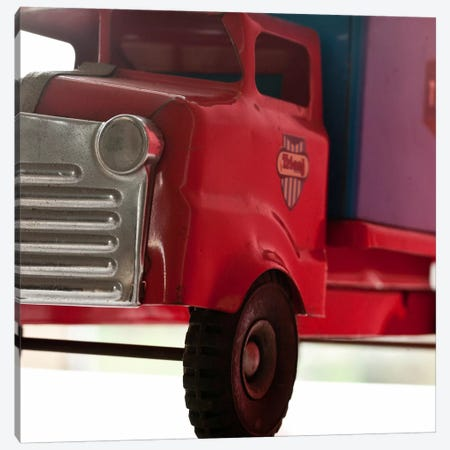 Red Truck 3-Piece Canvas #14165} by Symposium Design Canvas Print
