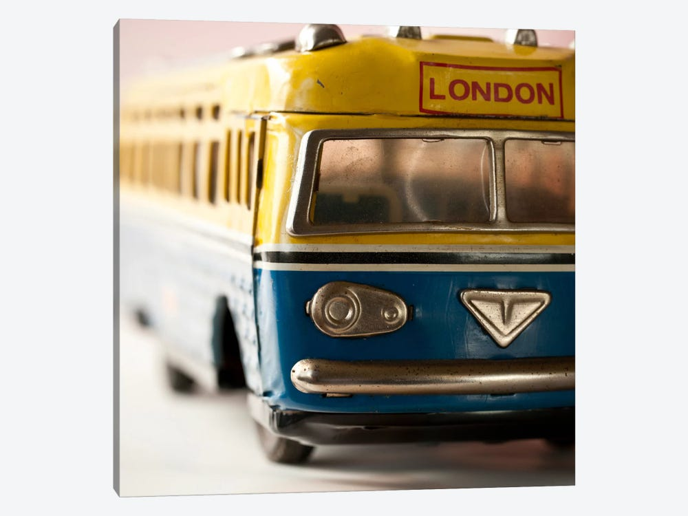 Yellow Bus 1-piece Canvas Art