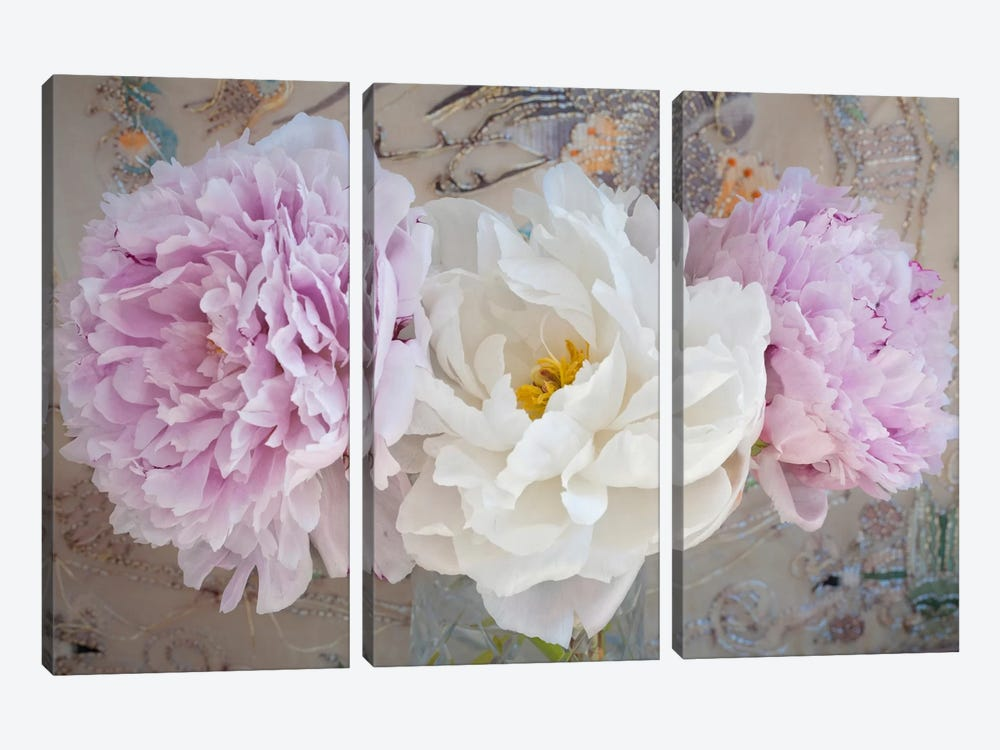 Romantic Flowers by Symposium Design 3-piece Canvas Art Print