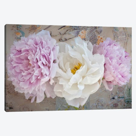 Romantic Flowers 3-Piece Canvas #14197} by Symposium Design Canvas Art