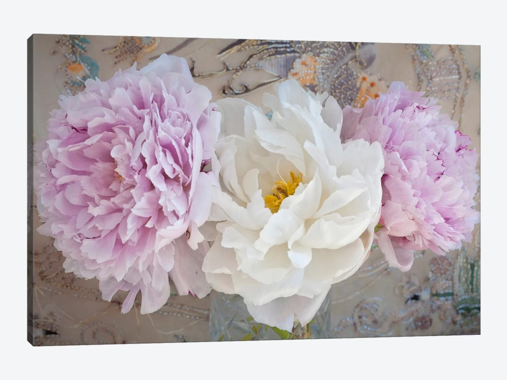 Romantic Flowers by Symposium Design 1-piece Canvas Print