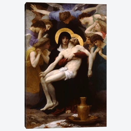 Pieta 1876 Canvas Print #1419} by William-Adolphe Bouguereau Canvas Art Print