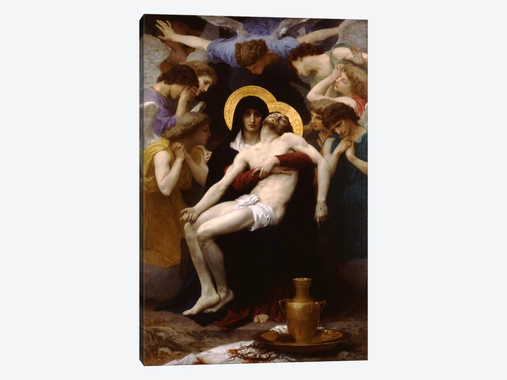 Pieta 1876 by William-Adolphe Bouguereau 1-piece Canvas Print