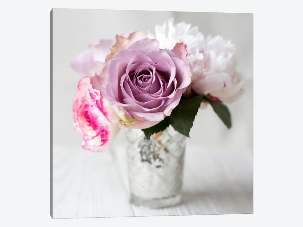 Lilac Rose Vase II 1-piece Art Print