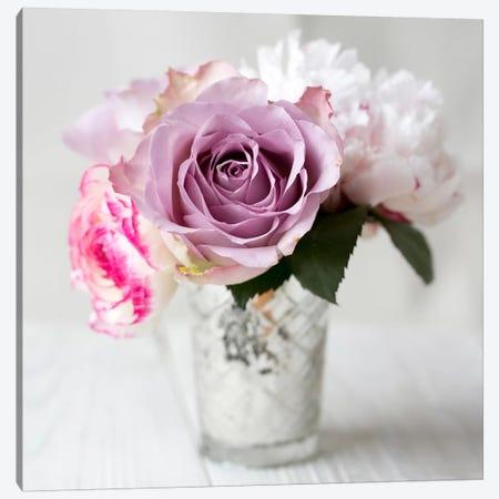 Lilac Rose Vase II Canvas Print #14215} by Symposium Design Canvas Print