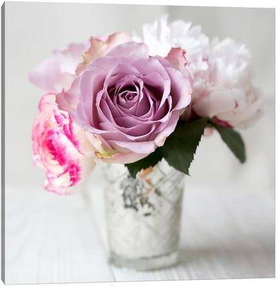 Lilac Rose Vase II Canvas Art Print