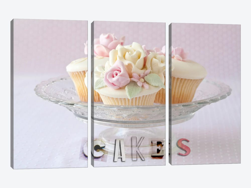 Cakes by Symposium Design 3-piece Canvas Print
