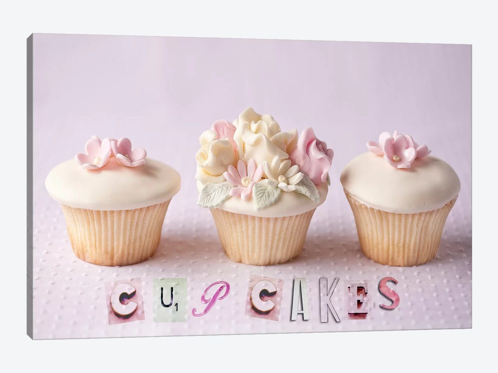Cupcakes by Symposium Design 1-piece Canvas Wall Art