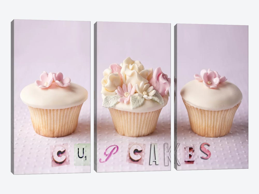 Cupcakes by Symposium Design 3-piece Canvas Artwork