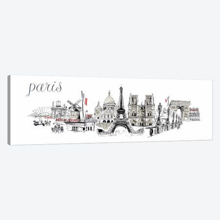 Paris La Pluie Canvas Print #14232} by Symposium Design Canvas Wall Art