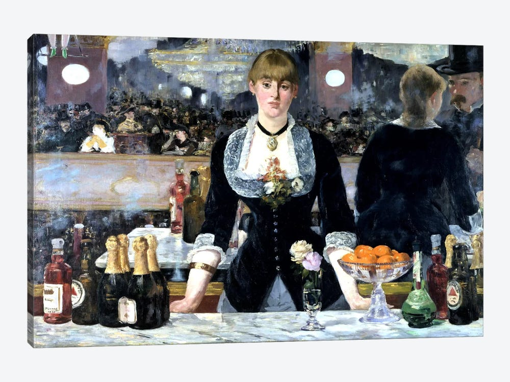 Bar At The Folies Bergeres by Edouard Manet 1-piece Canvas Art