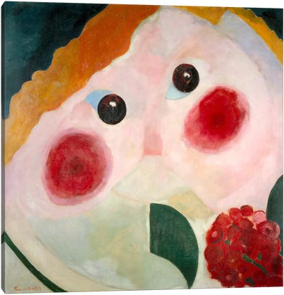 Girl with Ranunculus Canvas Art Print