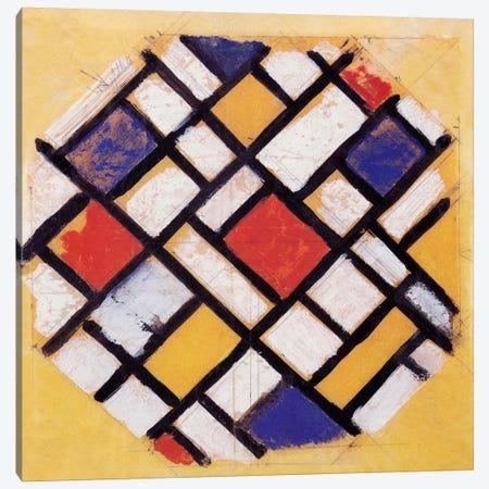 Studie für die Decke einer Universitätshalle (Study for a Composition) Canvas Print #14248} by Theo Van Doesburg Art Print