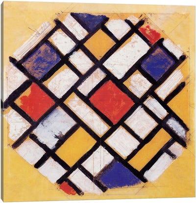 Studie für die Decke einer Universitätshalle (Study for a Composition) Canvas Art Print