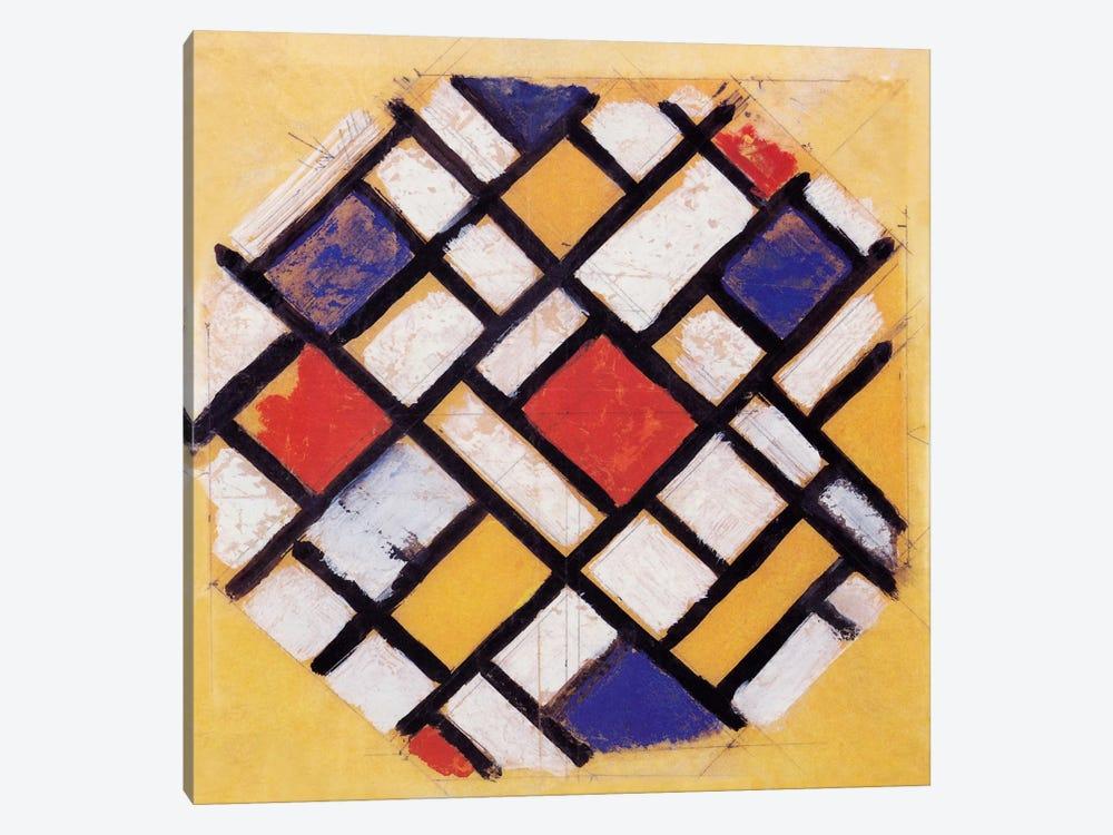 Studie für die Decke einer Universitätshalle (Study for a Composition) by Theo Van Doesburg 1-piece Canvas Print