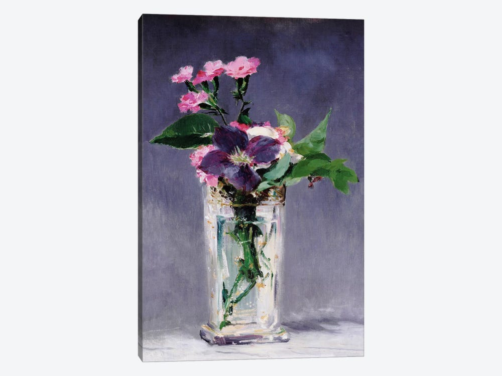Ragged Robins and Clematis by Edouard Manet 1-piece Canvas Art Print