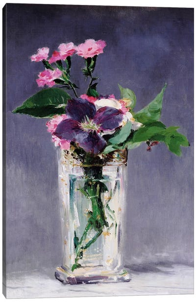 Ragged Robins and Clematis by Edouard Manet Canvas Print