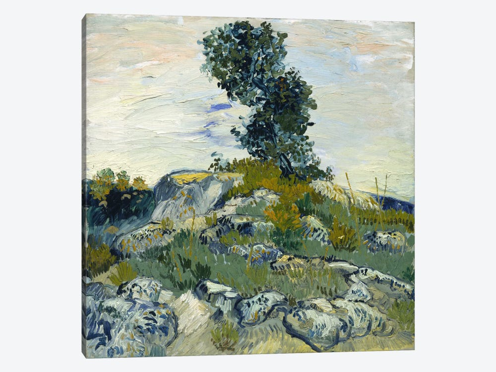 The Rocks by Vincent van Gogh 1-piece Canvas Art