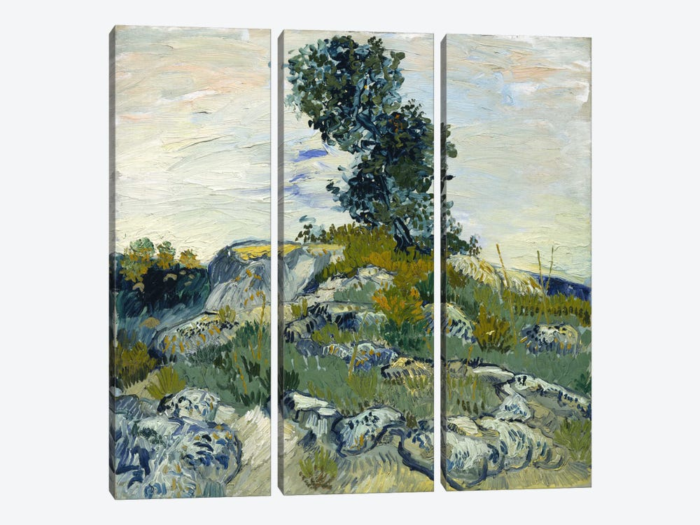 The Rocks by Vincent van Gogh 3-piece Canvas Art