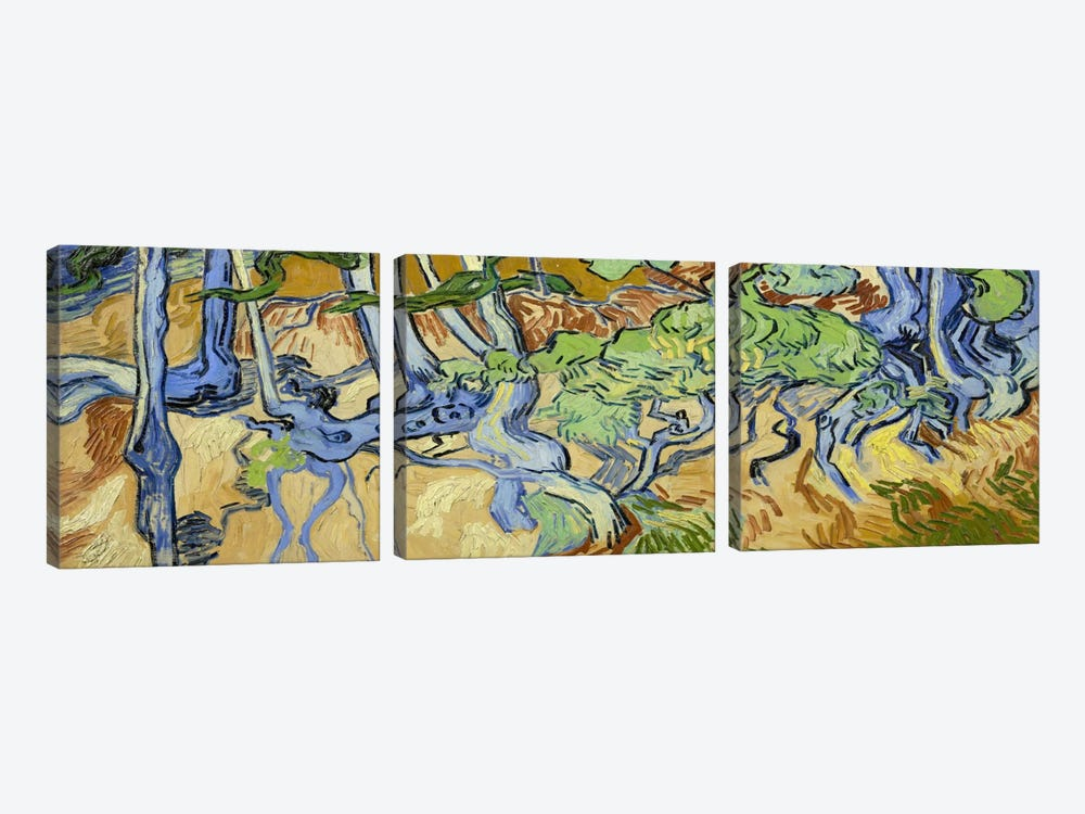 Tree-Roots by Vincent van Gogh 3-piece Canvas Wall Art