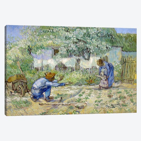 First Steps (After Millet) Canvas Print #14274} by Vincent van Gogh Canvas Print