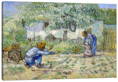 First Steps (After Millet) Canvas Art Print
