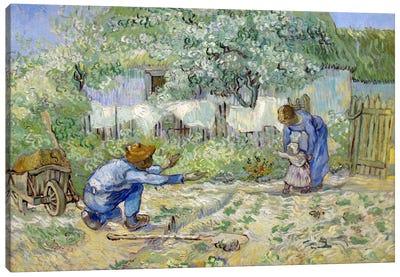 First Steps (After Millet) Canvas Print #14274