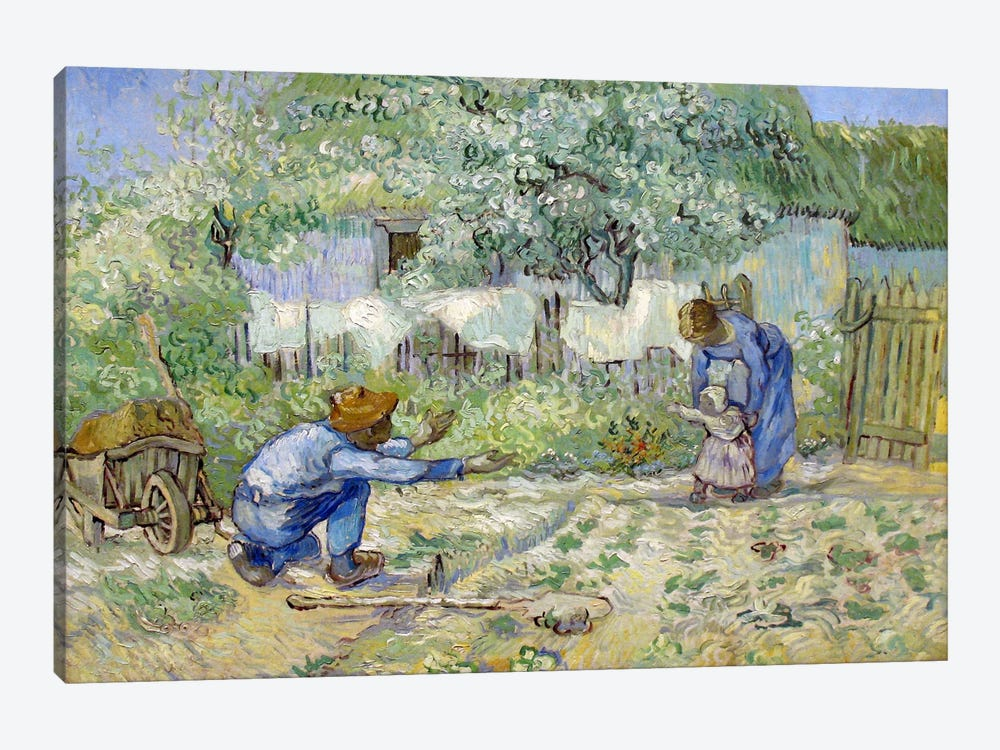 First Steps (After Millet) by Vincent van Gogh 1-piece Canvas Wall Art