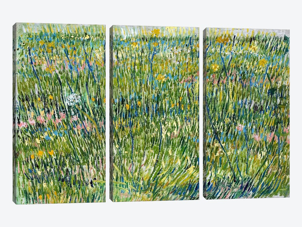 Patch of Grass by Vincent van Gogh 3-piece Canvas Artwork