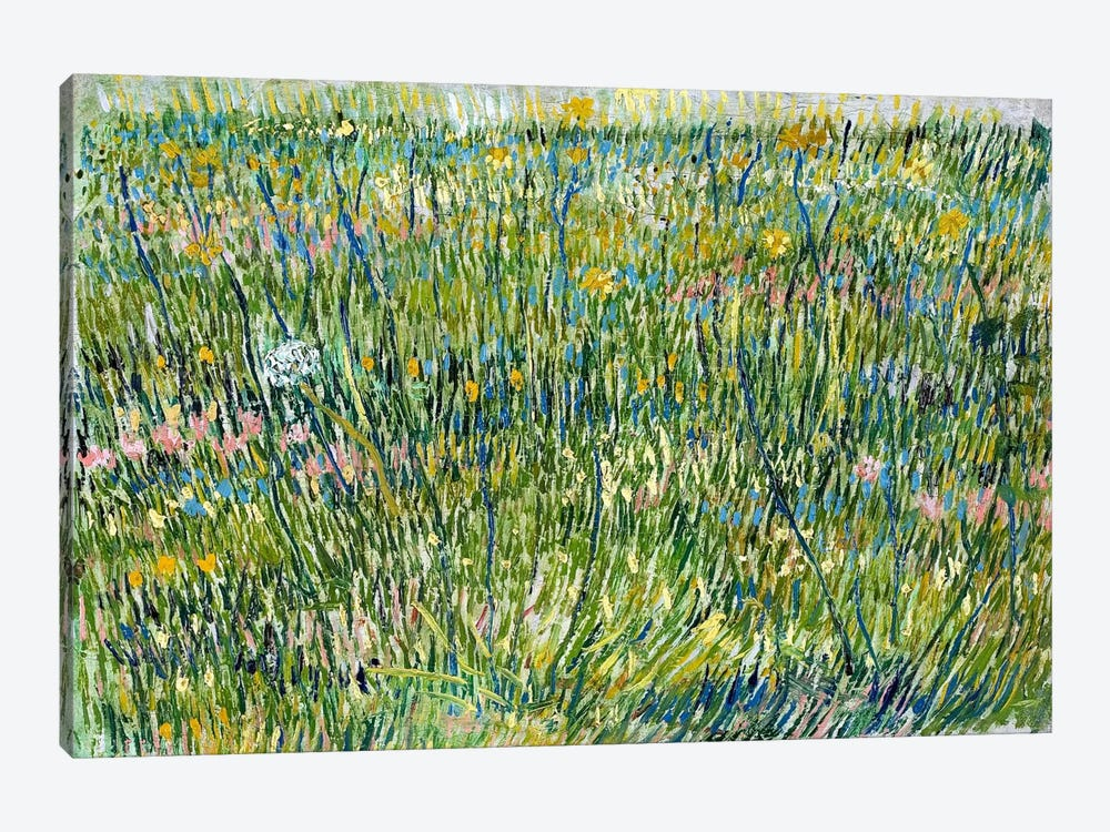 Patch of Grass by Vincent van Gogh 1-piece Canvas Wall Art