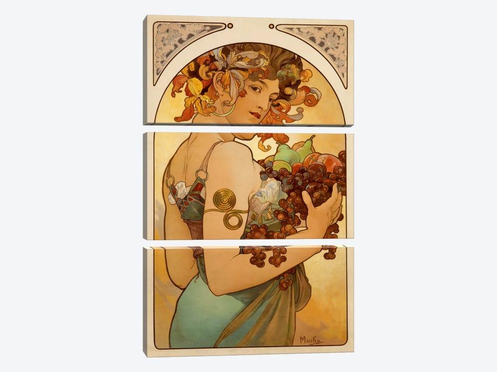 Fruit by Alphonse Mucha 3-piece Canvas Artwork