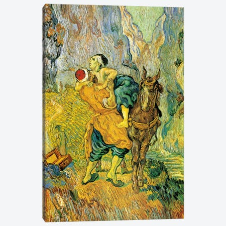 The Good Samaritan Canvas Print #14303} by Vincent van Gogh Canvas Artwork