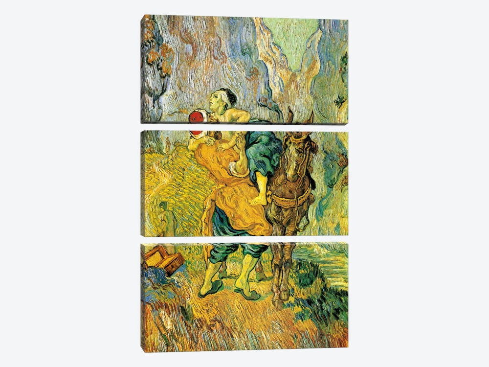 The Good Samaritan by Vincent van Gogh 3-piece Canvas Art Print