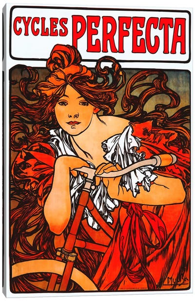 Cycles Perfecta by Alphonse Mucha Art Print