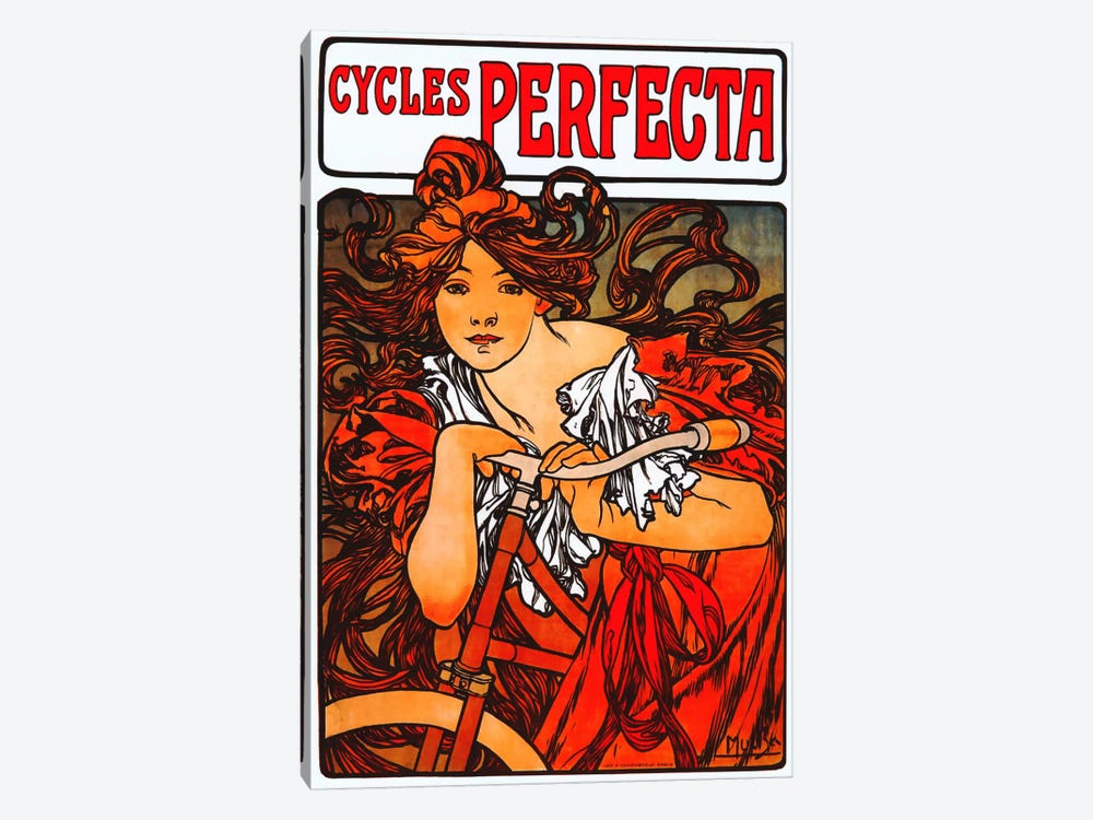 Cycles Perfecta by Alphonse Mucha 1-piece Canvas Art Print