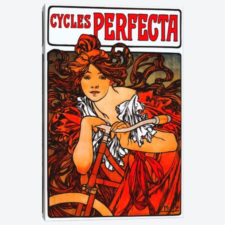 Cycles Perfecta Canvas Print #1431} by Alphonse Mucha Art Print