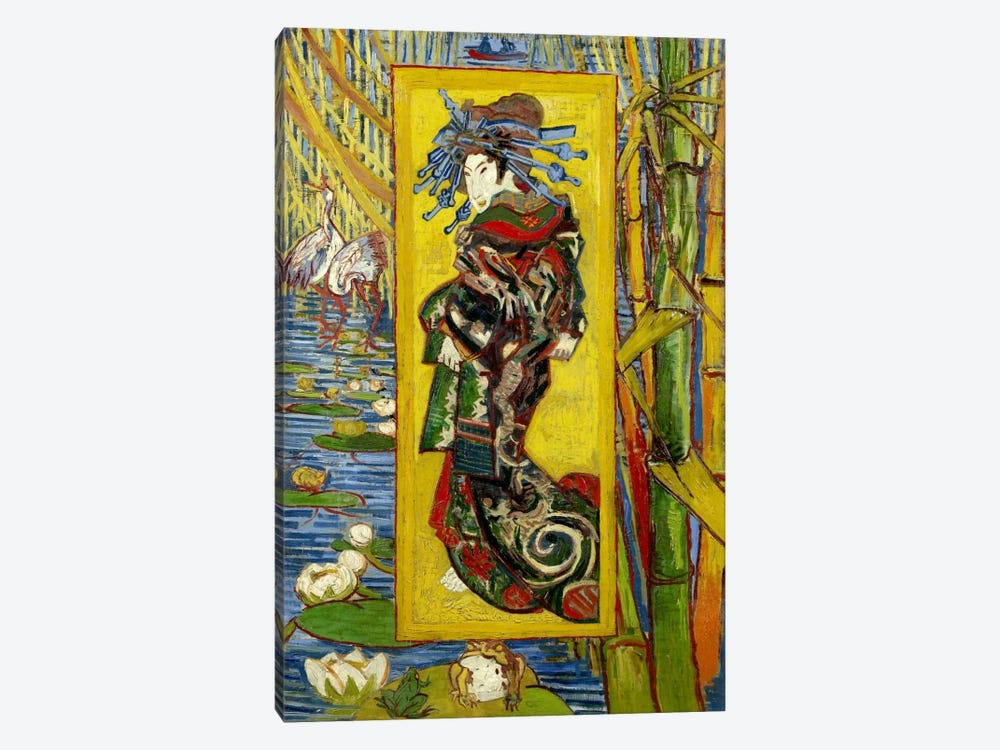 Courtesan (After Eisen) by Vincent van Gogh 1-piece Art Print
