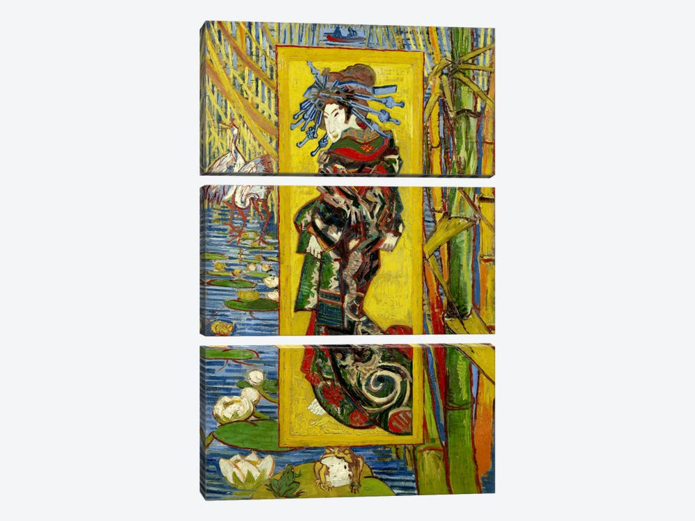Courtesan (After Eisen) by Vincent van Gogh 3-piece Art Print