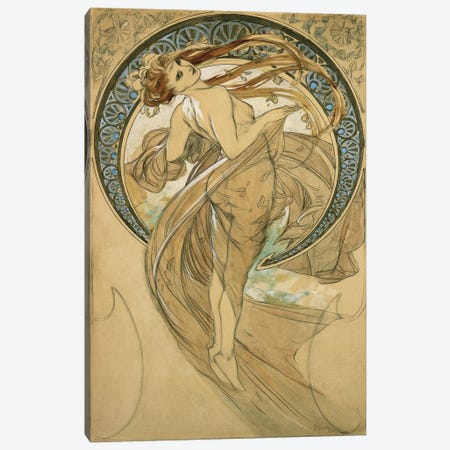 Study For La Danse Canvas Print #1433} by Alphonse Mucha Canvas Print