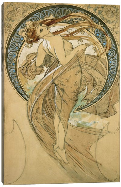 Dance by Alphonse Mucha Canvas Print