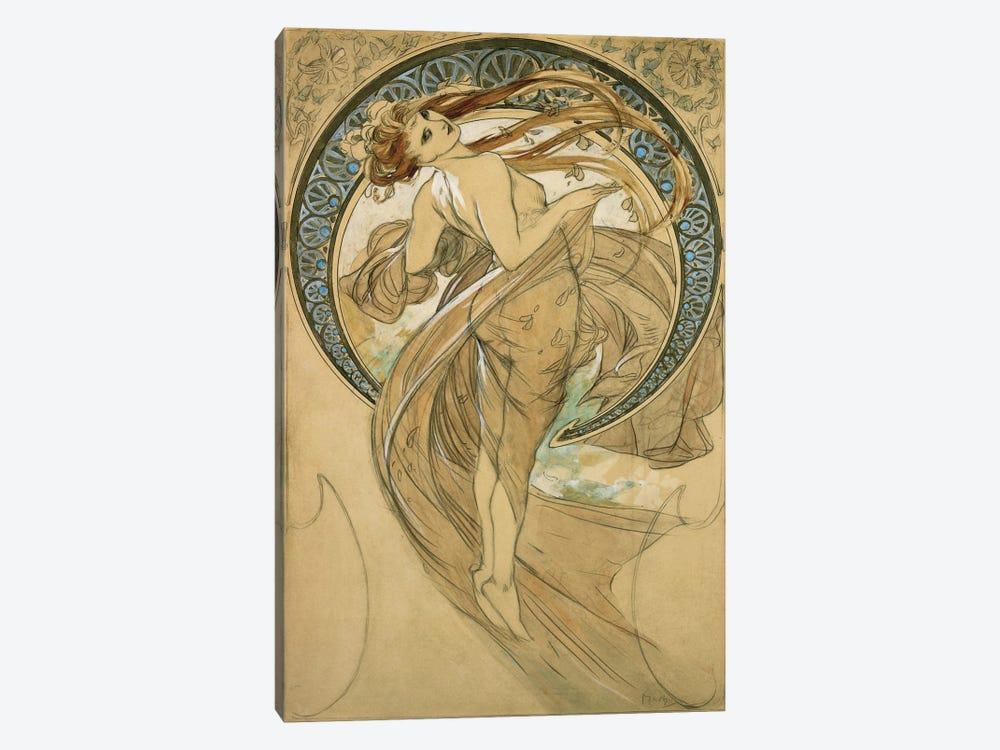 Study For La Danse by Alphonse Mucha 1-piece Canvas Print