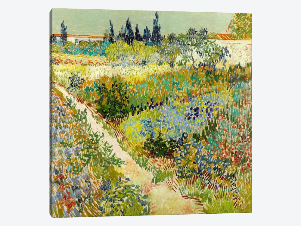 The Garden at Arles by Vincent van Gogh 1-piece Canvas Artwork