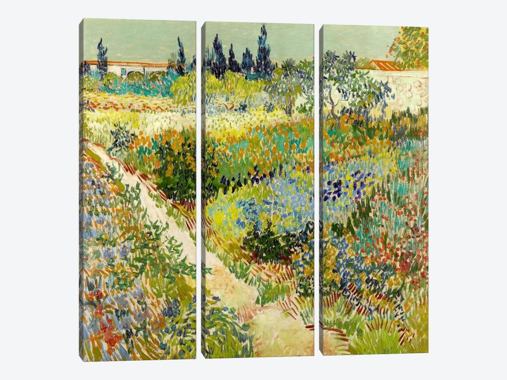 The Garden at Arles by Vincent van Gogh 3-piece Canvas Artwork