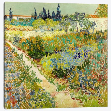 The Garden at Arles Canvas Print #14340} by Vincent van Gogh Canvas Art
