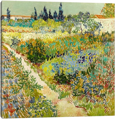 The Garden at Arles Canvas Art Print