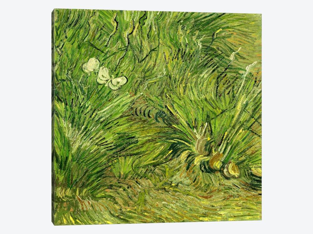 Two White Butterflies by Vincent van Gogh 1-piece Canvas Wall Art